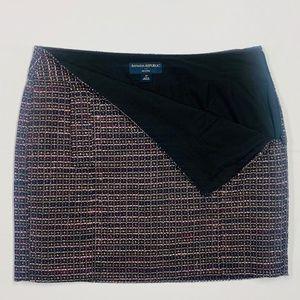 BANANA REPUBLIC Black Tweed Mini Skirt